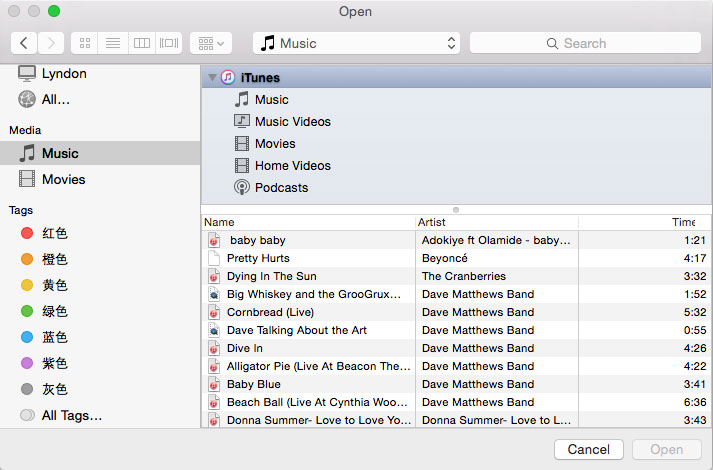 Add songs from PC/Mac to iTunes Library