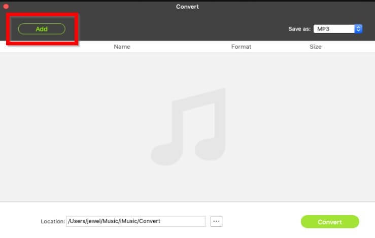 How to Upload Music to iTunes    - Select the convert item