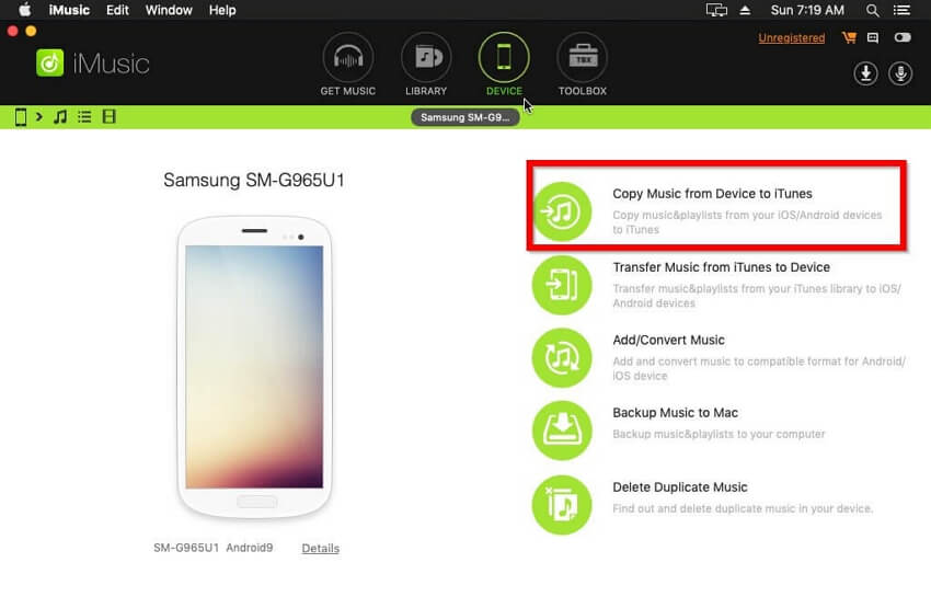 Transfer Music from Android Phones to iTunes