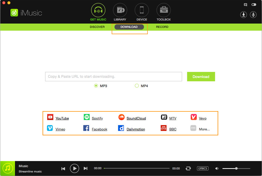 how to transfer spotify music to usb-paste url and begin to download