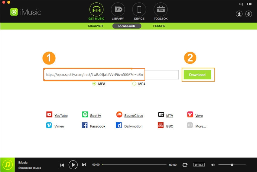 Download music from Deezer to MP3- copy and past the url