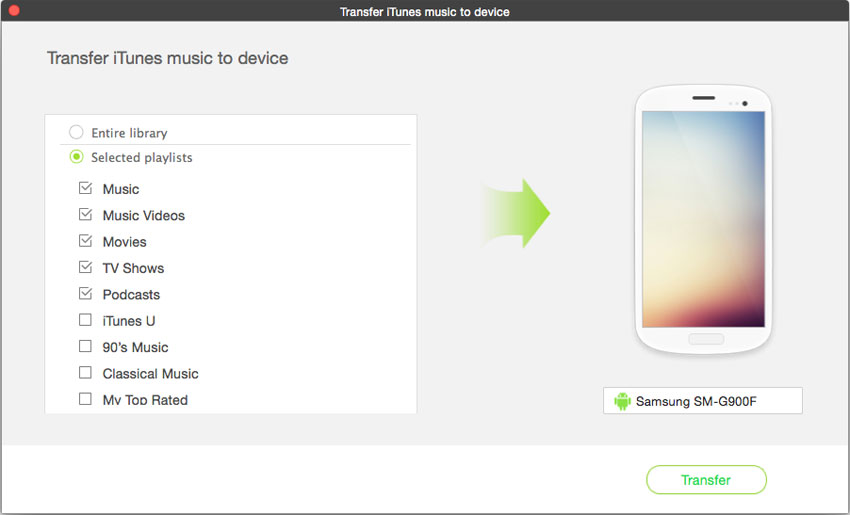 Transfer Music from iTunes to Android Phones