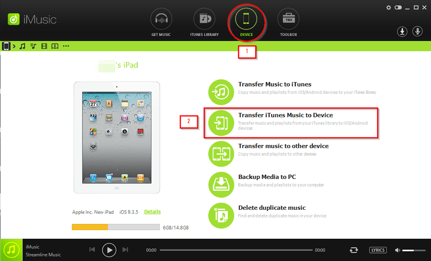 How to Transfer Videos from PC to iPhone- select transfer to device