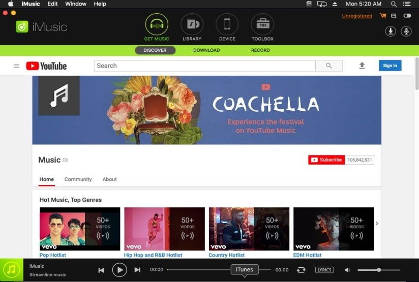 Transfer Music from PC to iPad-download and install imusic