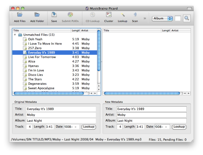 Clean Up iTunes Music Library-launch MusicBrainz Picard