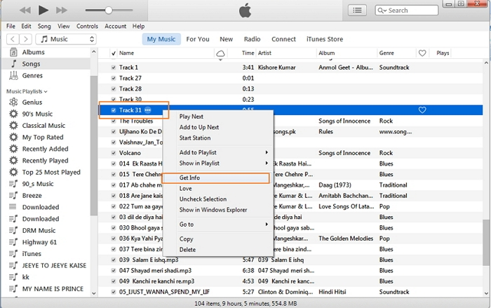 How to get track names on iTunes-tap on ok to finish process
