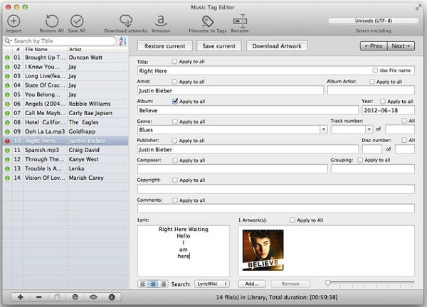 Audio tag editor Software