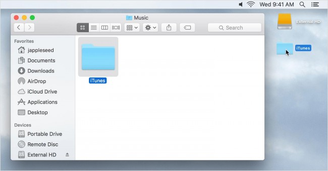Restore iTunes Library from iPhone-itunes copy folder