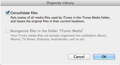 merge itunes libraries-Consolidate Files
