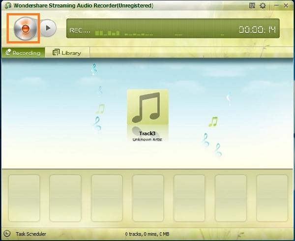Record pandora to iTunes- click record button