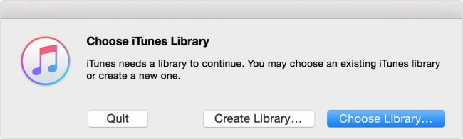 refresh itunes library-Choose library