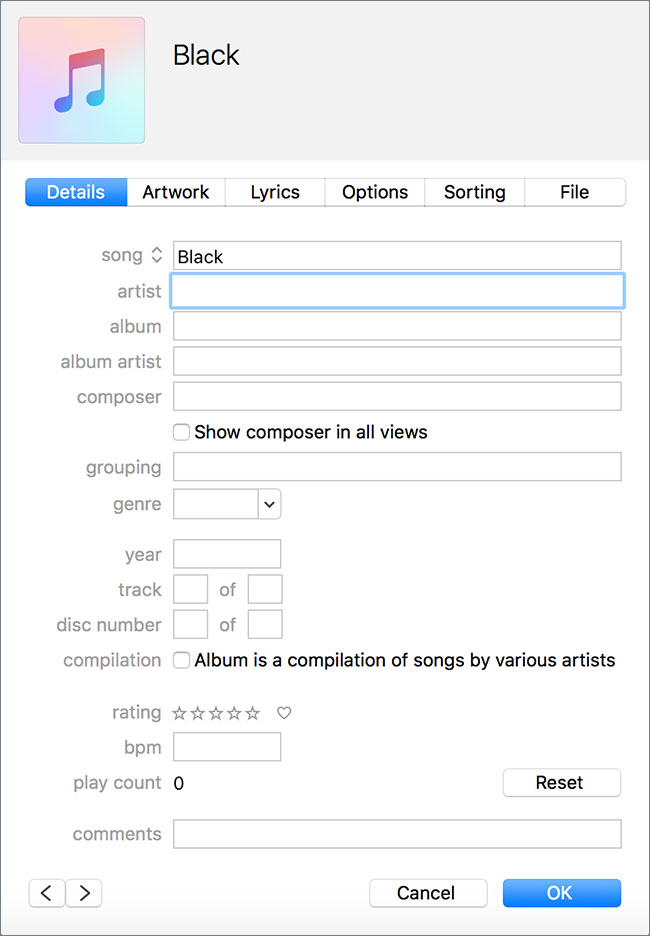 Clean up iTunes music library-add or alter artist name