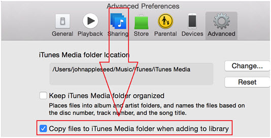 itunes library disappeared-restore iTunes Playlists-Copy Files to iTunes Media Folder when adding to folder