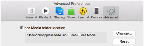 itunes library disappeared-restore iTunes Playlists-default location