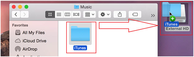 itunes library disappeared-restore iTunes Playlists-drag and drop to external drive