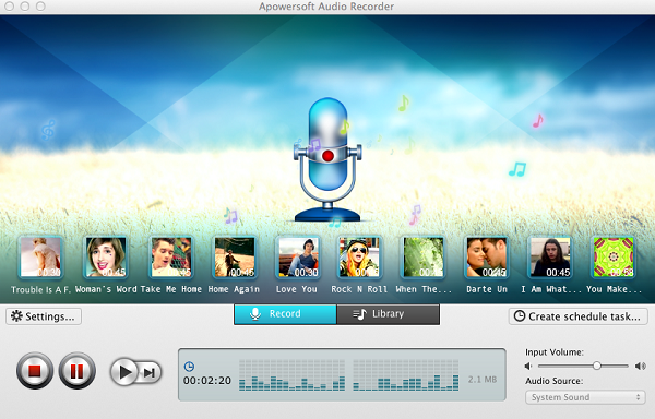 how to record streaming audio mac-Apowersoft Audio Recorder