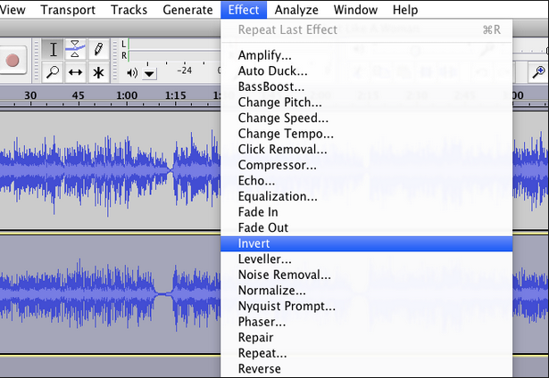 audacity remove vocals