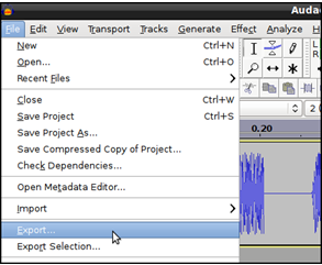 convert audacity to m4a format