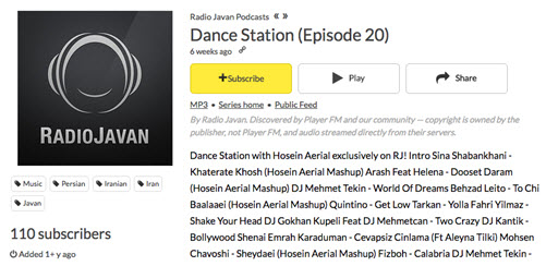 Hot Radio Programs on Radio Javan-Dance Station (Episode 20)