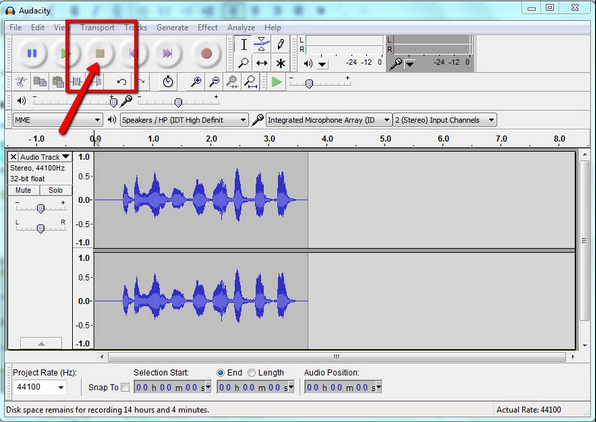 record music with audacity