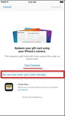 How to Buy Music on iPhone/iPad-input enter code