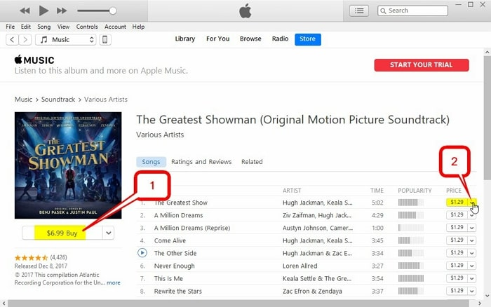 How to Buy Music on iTunes -set up the preference-begin the buy process