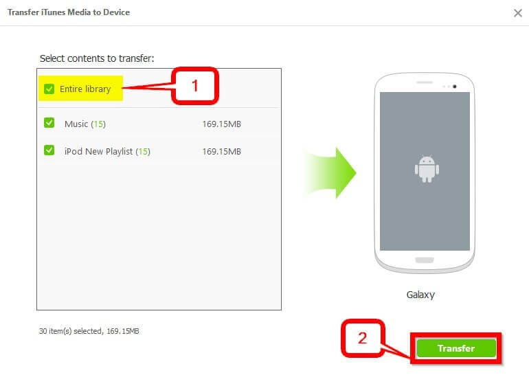 iTunes to Android Transfer: Move Music from iTunes to Android   -Transfer iTunes Media to Device