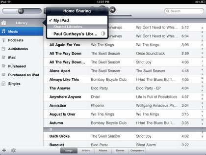 how to transfer songs from ipod to ipad- check tracks on the list
