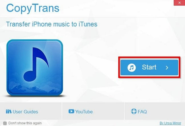 CopyTrans Manager Review-start copytrans