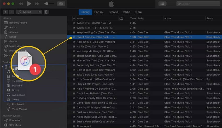 How to Add Music From iTunes to iPhone (iPod Touch/iPad) Without any Hassle-drag and frop files