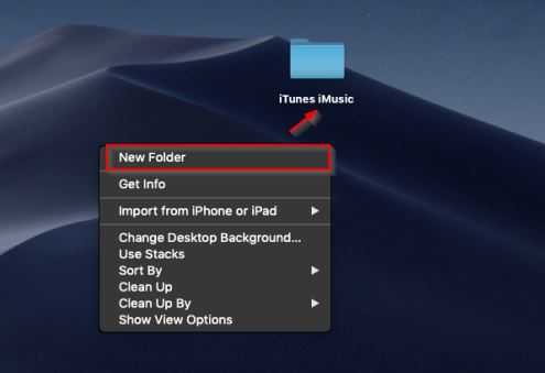 How to Transfer Music from Computer to iTunes for Free-create a new folder