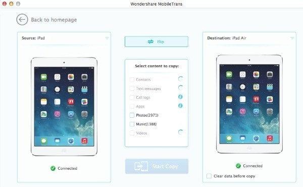 How to Transfer Data from One iPad to Another- Wondershare – Mobile Trans