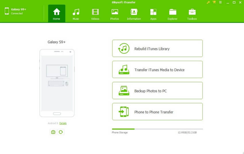 Top 10 Music Transfer App for /iPhone/iPad/iPod /Android Between Mac - iSkysoft iTransfer