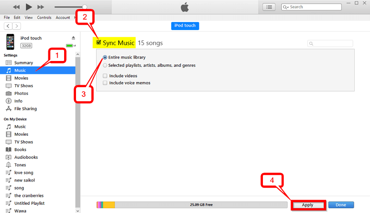 4 Helpful Ways to Transfer Playlist from iPod to iTunes   -Sync Music