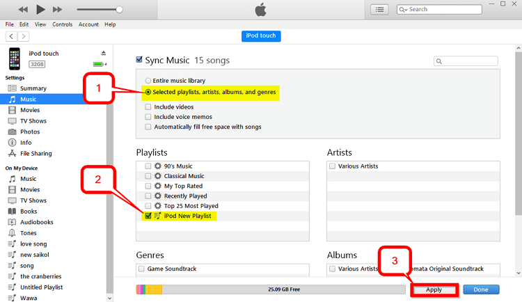 4 Helpful Ways to Transfer Playlist from iPod to iTunes   -Selected Playlists