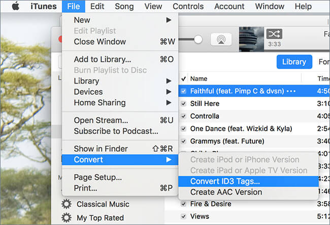 Convert iTunes Songs to MP3-begin to convert