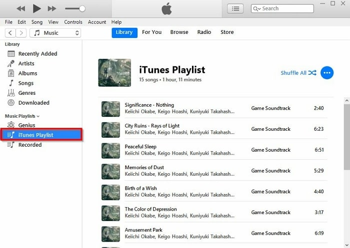 How to Export iTunes Playlist-find the iTunes playlist