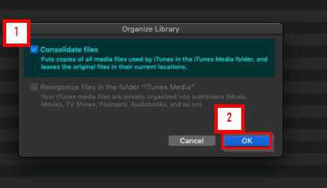 How to Import iTunes Library-Click the organize library tab
