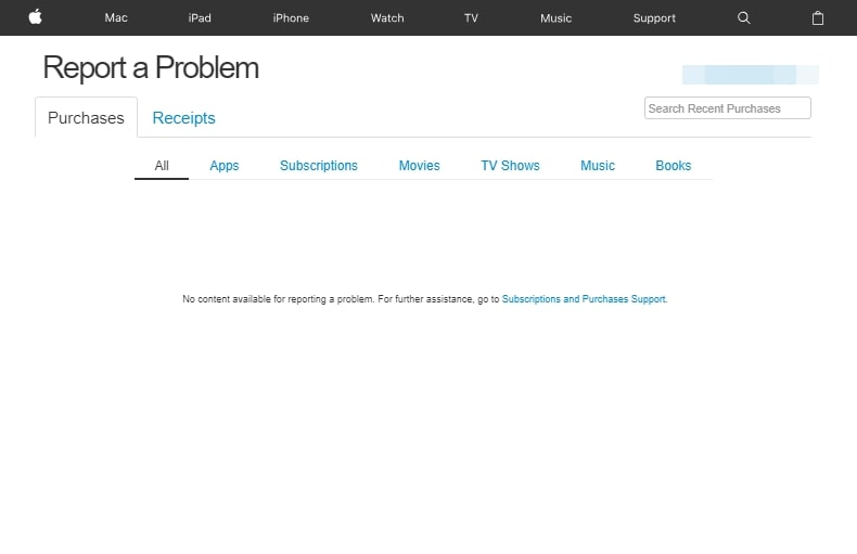 How to View iTunes Purchases- report a problem