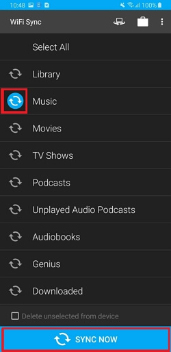 iTunes to Android Transfer: Move Music from iTunes to Android -Select & Sync Now