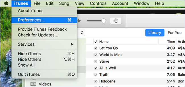 how to put music from itunes onto a flash drive on a mac-