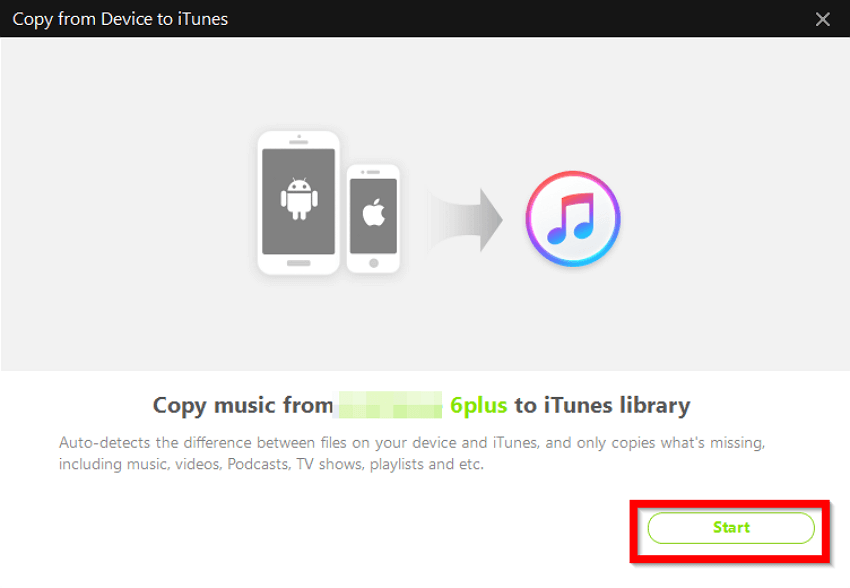 2 Helpful Methods to Move Music from iPhone6/7/8/8Plus/X/XR/XS/XS Max to iTunes  - Start