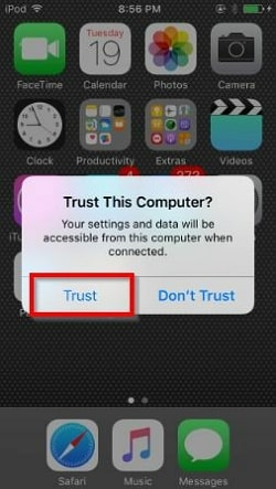 2 Simple Solutions to Transfer Playlist from iPhone to iTunes- Trust the device