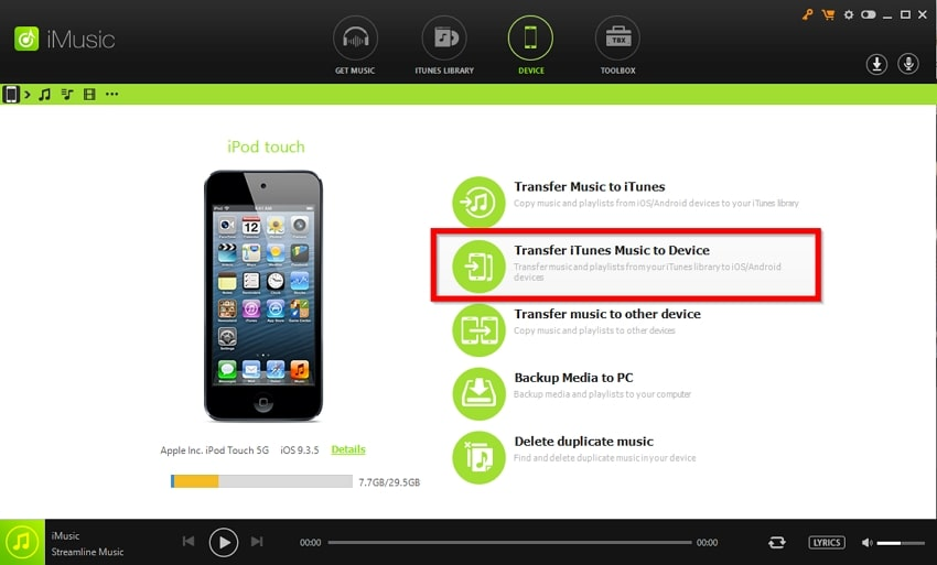 How to Put Music on iPod Without iTunes  -Transfer iTunes Music to Device