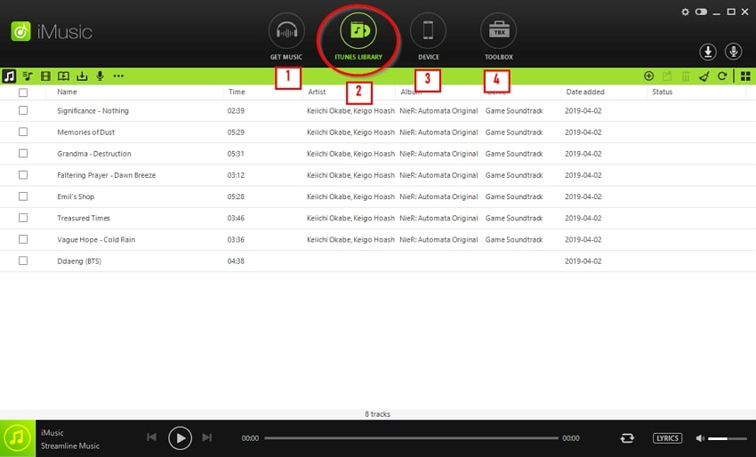 Top 11 iTunes Music App-go to itunes library page