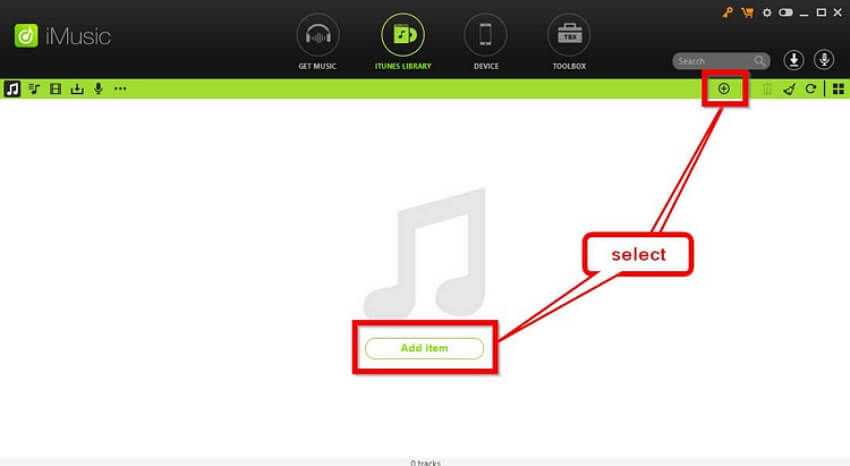 How to Put a Song on iTunes    -launch imusic and click add