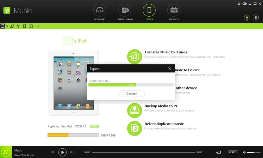 How to Transfer Music from iPad to iPod-begin automatica taransfer