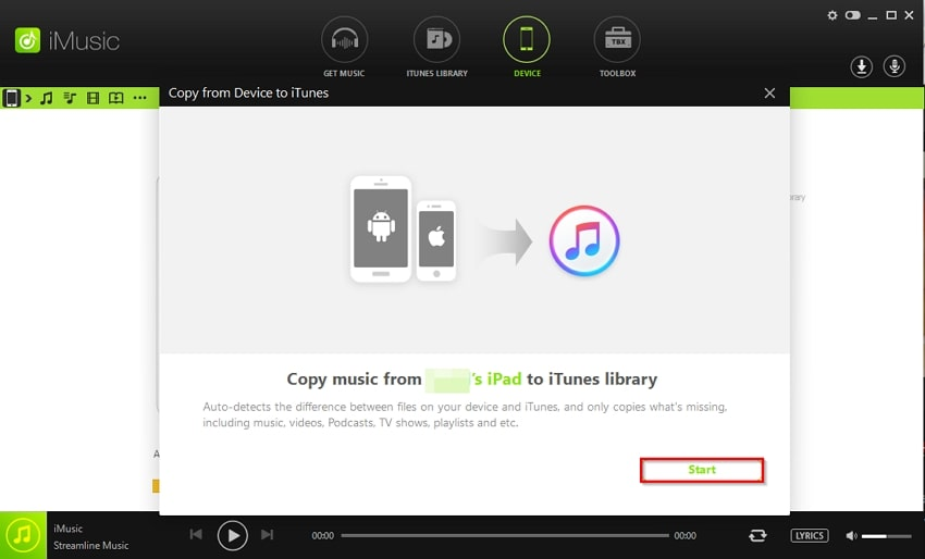 How to Buy Music on iPhone/iPad- click copy from device to itunes