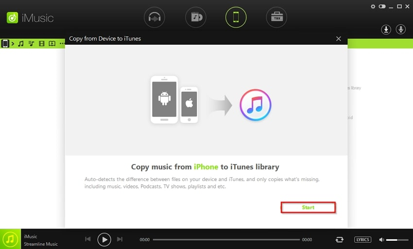 how to sync music from iphone to itunes-scan device