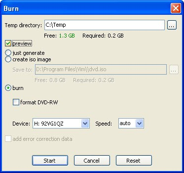dvdstyler tutorial - burn
